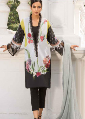 Sobia Nazir Embroidered Lawn Unstitched 3 Piece Suit SN19V 4B - Festive Collection