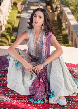 Sobia Nazir Embroidered Lawn Unstitched 3 Piece Suit SN20V 9B - Summer Collection