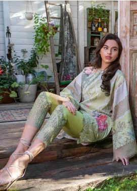 Sobia Nazir Embroidered Cotton Satin Unstitched 3 Piece Suit SN18W 4A - Winter Collection