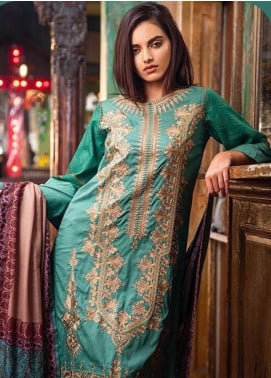 Sobia Nazir Embroidered Khaddar Unstitched 3 Piece Suit SN19W 2B - Winter Collection