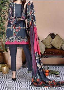 Soffio Printed Lawn Unstitched 2 Piece Suit SF20KH SK-022 - Summer Collection