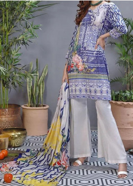Soffio Printed Lawn Unstitched 2 Piece Suit SF20KH SK-033 - Summer Collection