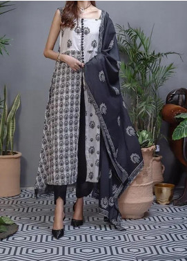 Soffio Printed Lawn Unstitched 2 Piece Suit SF20KH SK-055 - Summer Collection