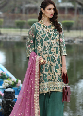 Soigne Embroidered Chiffon Unstitched 3 Piece Suit SG20E D 1 - Luxury Collection