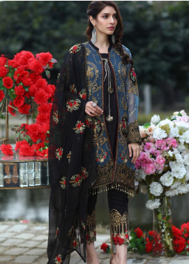 Soigne Embroidered Chiffon Unstitched 3 Piece Suit SG20E D 3 - Luxury Collection