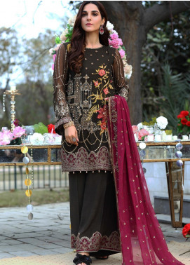 Soigne Embroidered Chiffon Unstitched 3 Piece Suit SG20E D 4 - Luxury Collection