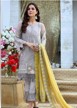 Soigne Embroidered Chiffon Unstitched 3 Piece Suit SG20E D 5 - Luxury Collection