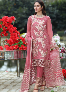 Soigne Embroidered Chiffon Unstitched 3 Piece Suit SG20E D 6 - Luxury Collection