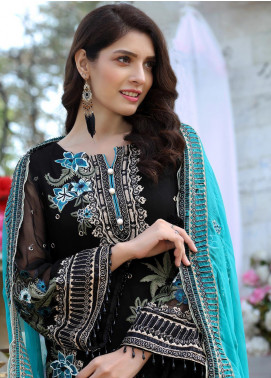 Soigne Embroidered Chiffon Unstitched 3 Piece Suit SG20E D 7 - Luxury Collection