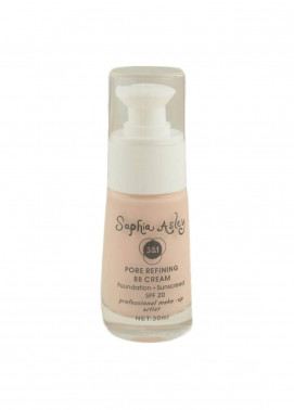 Sophia Asley 3 in 1 Pore Refining BB Cream Foundation , Sunscreen SPF20 - 4  Porcelain