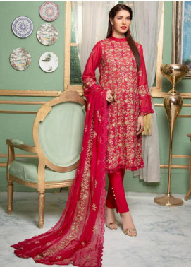 Sophia by Riaz Arts Embroidered Lawn Unstitched 3 Piece Suit SRA20L 02 - Luxury Collection