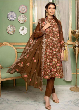 Sophia by Riaz Arts Embroidered Lawn Unstitched 3 Piece Suit SRA20L 06 - Luxury Collection