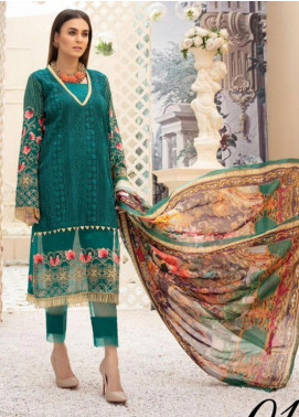 Sophia by Riaz Arts Embroidered Lawn Unstitched 3 Piece Suit RA20S 1 - Luxury Collection