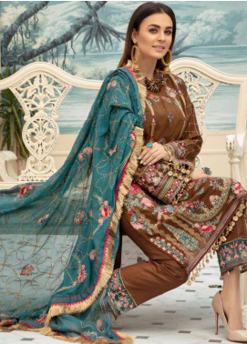 Sophia by Riaz Arts Embroidered Lawn Unstitched 3 Piece Suit RA20S 4 - Luxury Collection