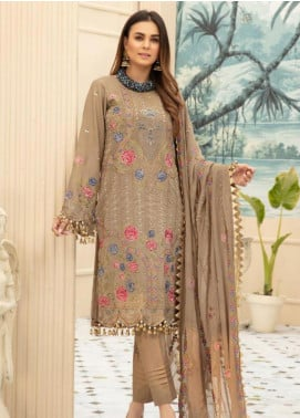 Sophia by Riaz Arts Embroidered Lawn Unstitched 3 Piece Suit RA20S 6 - Luxury Collection