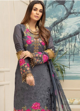 Sophia by Riaz Arts Embroidered Lawn Unstitched 3 Piece Suit RA20S 7 - Luxury Collection