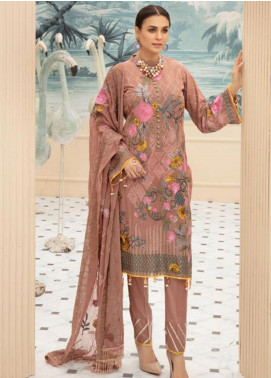 Sophia by Riaz Arts Embroidered Lawn Unstitched 3 Piece Suit RA20S 8 - Luxury Collection