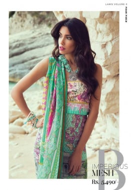 Sapphire Embroidered Lawn Unstitched 3 Piece Suit SP17E Imperious Mesh B