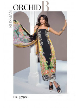 Sapphire Embroidered Lawn Unstitched 3 Piece Suit SP17E Russian Orchid B