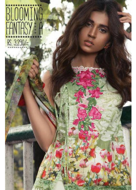 Sapphire Embroidered Lawn Unstitched Suit 3 Piece Suit SP17L2 Blooming Fantasy A