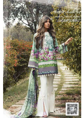 Sapphire Embroidered Lawn Unstitched Suit 3 Piece Suit SP17L2 Blooming Fantasy B