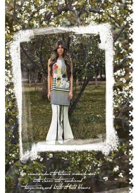 Sapphire Printed Lawn Unstitched Suit 2 Piece Suit SP17L2 Color Blocking A