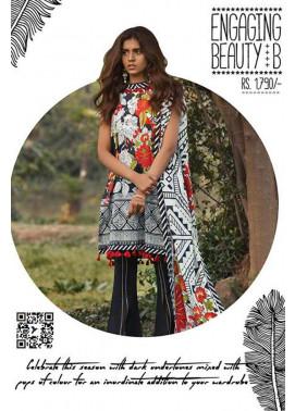 Sapphire Printed Lawn Unstitched Suit 2 Piece Suit SP17L2 Engaging Beauty B