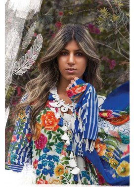Sapphire Embroidered Lawn Unstitched Suit 3 Piece Suit SP17L2 Floral Verano A