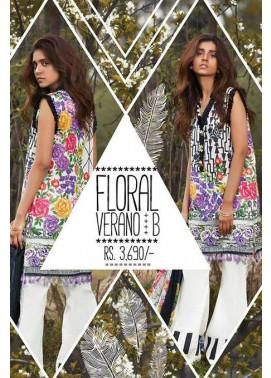 Sapphire Embroidered Lawn Unstitched Suit 3 Piece Suit SP17L2 Floral Verano B