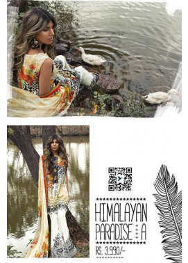 Sapphire Embroidered Lawn Unstitched Suit 3 Piece Suit SP17L2 Himalayan Paradise A