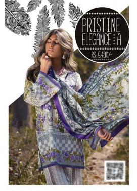 Sapphire Embroidered Lawn Unstitched Suit 3 Piece Suit SP17L2 Pristine Elegance A