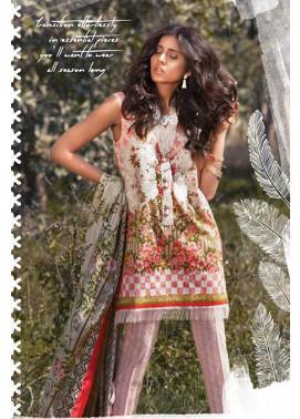 Sapphire Embroidered Lawn Unstitched Suit 3 Piece Suit SP17L2 Pristine Elegance B