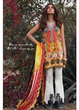 Sapphire Embroidered Lawn Unstitched Suit 3 Piece Suit SP17L2 Summer Bloom B