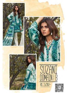 Sapphire Embroidered Lawn Unstitched Suit 3 Piece Suit SP17L2 Suzani Domain B