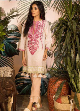 Sapphire Embroidered Cotton Unstitched Kurties Bamboo Damask B - Autumn - Fall Collection