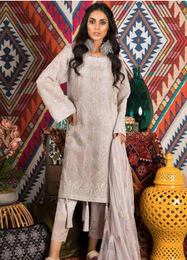 Sapphire Embroidered Khaadi Net Unstitched 3 Piece Suit Dreaming Dahlia - Autumn - Fall Collection
