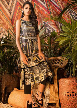 Sapphire Printed Cotton Unstitched Kurties Flow A - Autumn - Fall Collection