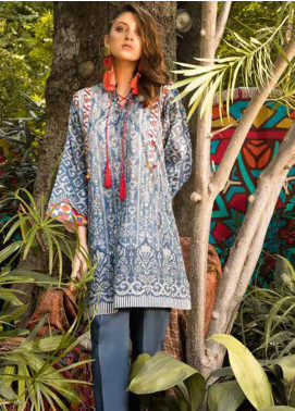 Sapphire Printed Cotton Unstitched Kurties Impressions A - Autumn - Fall Collection