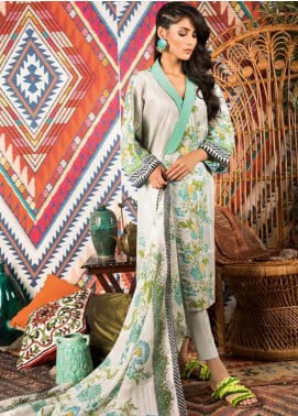 Sapphire Printed Cotton Unstitched 2 Piece Suit Iris A - Autumn - Fall Collection