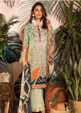Sapphire Embroidered Cotton Unstitched 3 Piece Suit iznik Rhapsody - Autumn - Fall Collection