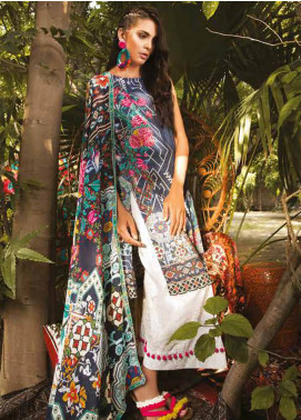 Sapphire Printed Cotton Unstitched 3 Piece Suit Marrakesh A - Autumn - Fall Collection