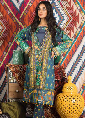 Sapphire Printed Cotton Unstitched 2 Piece Suit Midnight Garden B - Autumn - Fall Collection