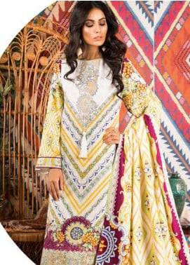 Sapphire Embroidered Cotton Unstitched 3 Piece Suit Mulbery - Autumn - Fall Collection