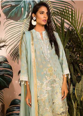 Sapphire Embroidered Jacquard Unstitched 3 Piece Suit Mystique - Autumn - Fall Collection