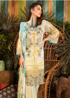 Sapphire Embroidered Cotton Unstitched 3 Piece Suit Persian Arch - Autumn - Fall Collection
