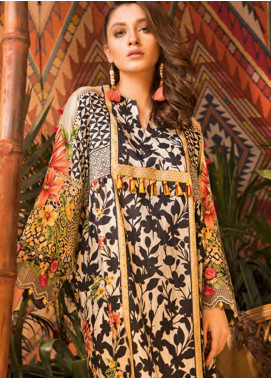 Sapphire Embroidered Cotton Unstitched 2 Piece Suit Pure Bliss B - Autumn - Fall Collection