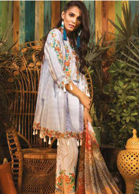 Sapphire Embroidered Cotton Unstitched 3 Piece Suit Suzani Duet - Autumn - Fall Collection