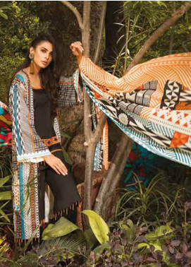 Sapphire Printed Cotton Unstitched 3 Piece Suit Tribe A - Autumn - Fall Collection