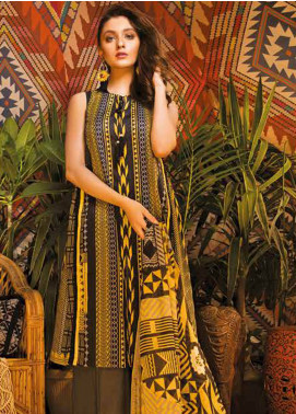 Sapphire Printed Cotton Unstitched 3 Piece Suit Tribe B - Autumn - Fall Collection