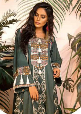 Sapphire Embroidered Cotton Unstitched 2 Piece Suit Tropic Tribe B - Autumn - Fall Collection